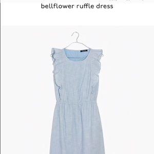 Madewell bellflower chambray dress size 2